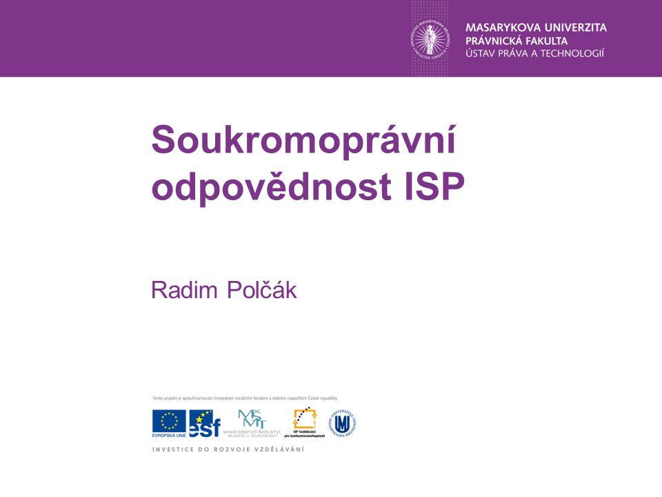 Soukromoprávní odpovědnost ISP Radim Polčák