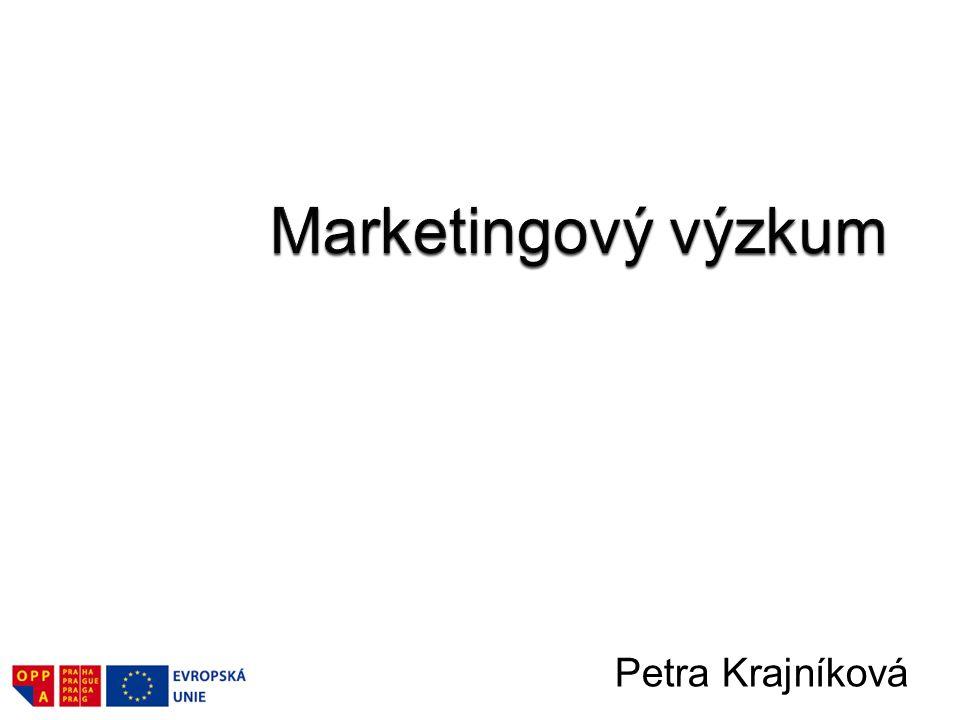 Marketingový výzkum.–Definice marketingového výzkumu.