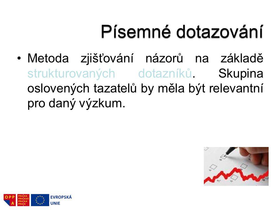Polytematický výzkum provedený formou osobního dotazování.