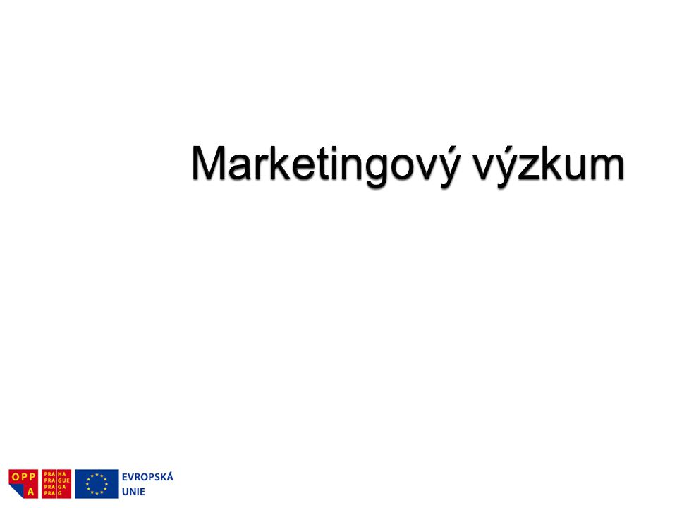 Marketingový výzkum spočívá ve specifikaci, shromažďování, analýze a interpretaci informací – porozumět trhu (kde podnik podniká či chce podnikat), identifikovat problémy spojené s podnikáním na tomto trhu, identifikovat příležitosti, formulovat směry marketingové činnosti a hodnotit její výsledky.