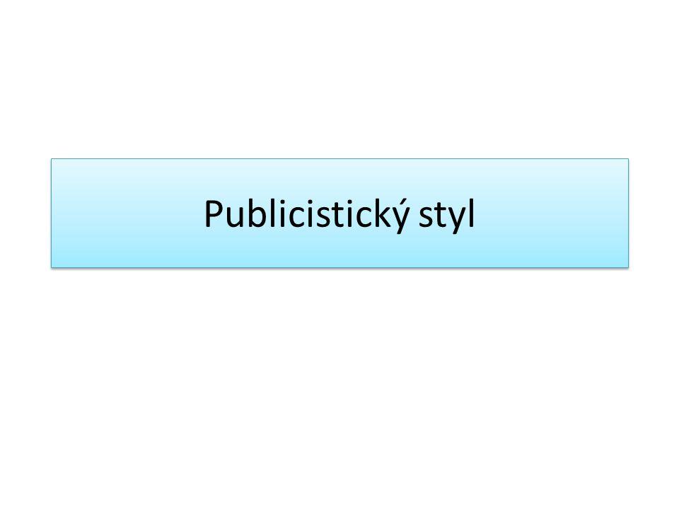 Publicistický styl