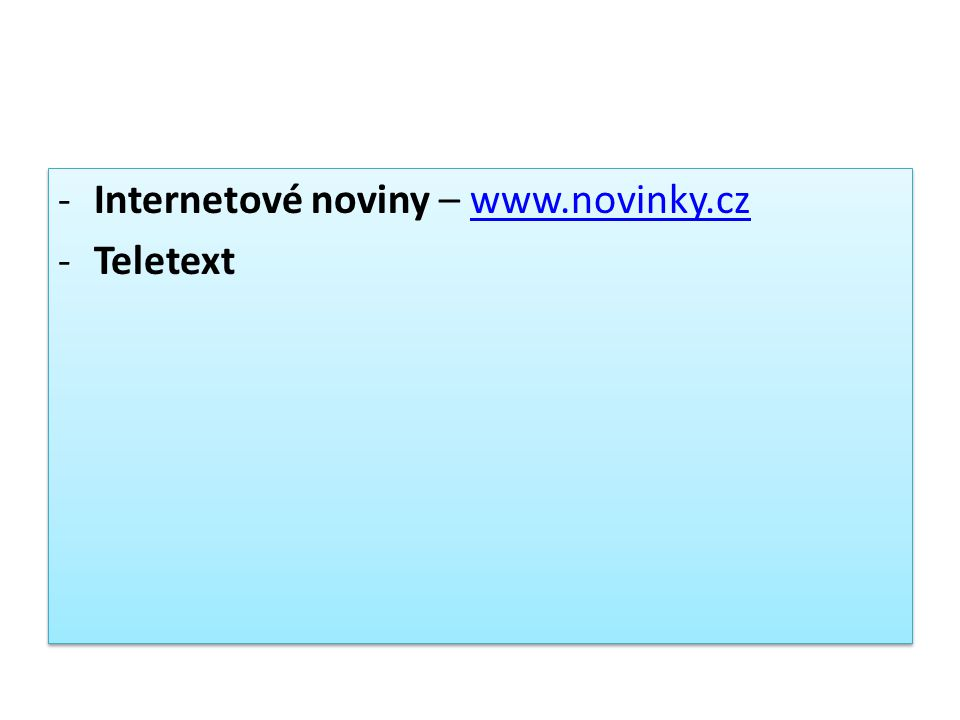-Internetové noviny – www.novinky.czwww.novinky.cz -Teletext -Internetové noviny – www.novinky.czwww.novinky.cz -Teletext