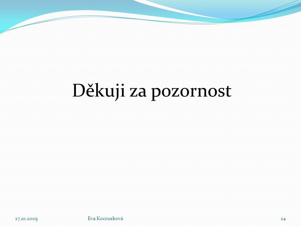 Děkuji za pozornost 27.10.2009Eva Kocourková24