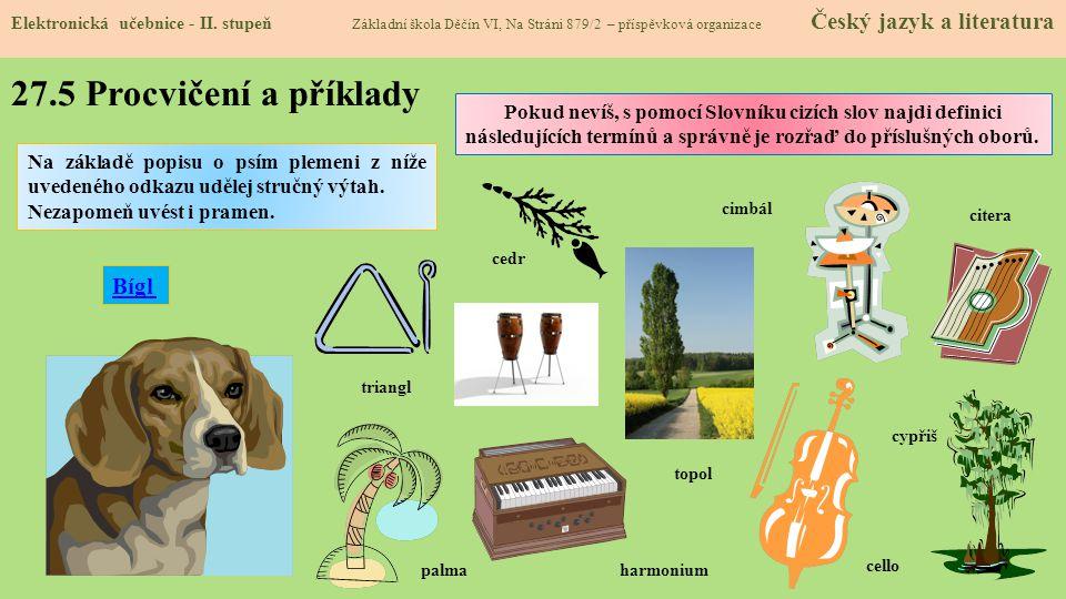 27.6 Něco navíc pro šikovné Elektronická učebnice - II.