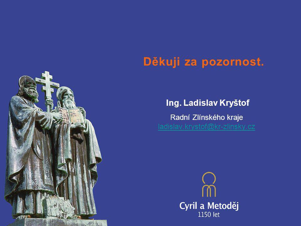 Děkuji za pozornost. Ing. Ladislav Kryštof Radní Zlínského kraje ladislav.krystof@kr-zlinsky.cz