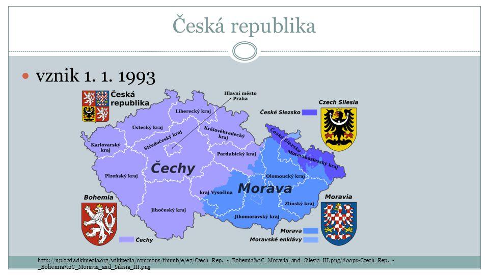 Česká republika vznik 1.1.