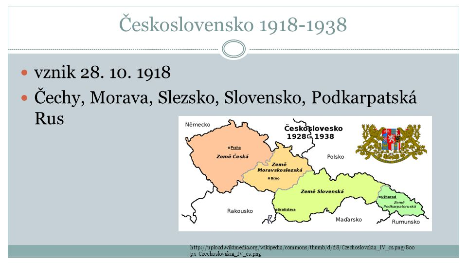 Československo 1918-1938 vznik 28.10.