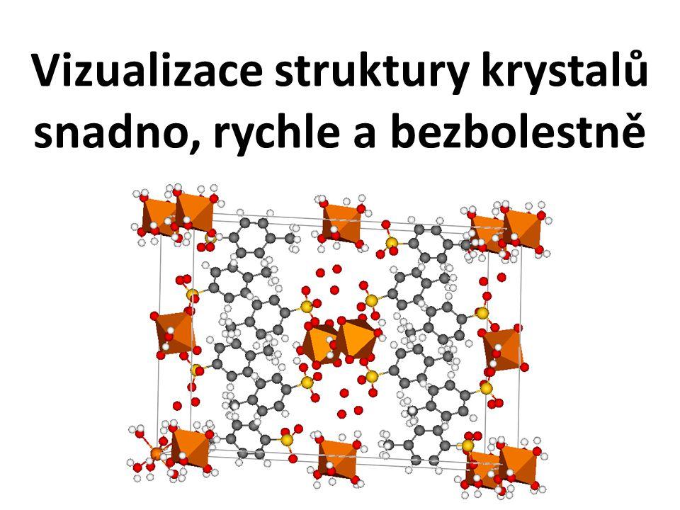 Vizualizace struktury krystalů snadno, rychle a bezbolestně