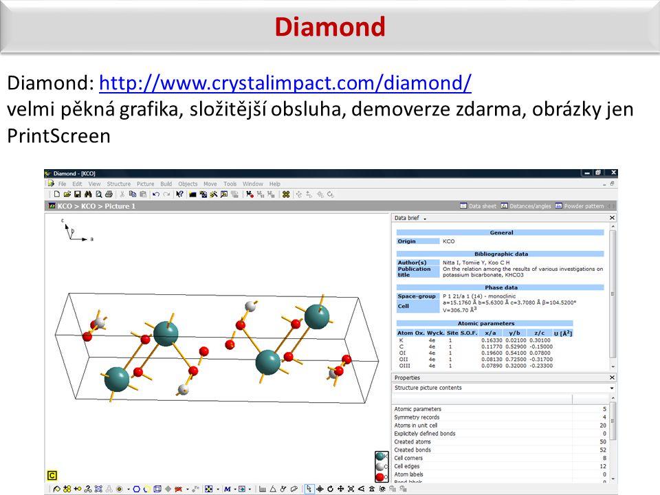 Diamond: http://www.crystalimpact.com/diamond/http://www.crystalimpact.com/diamond/ velmi pěkná grafika, složitější obsluha, demoverze zdarma, obrázky