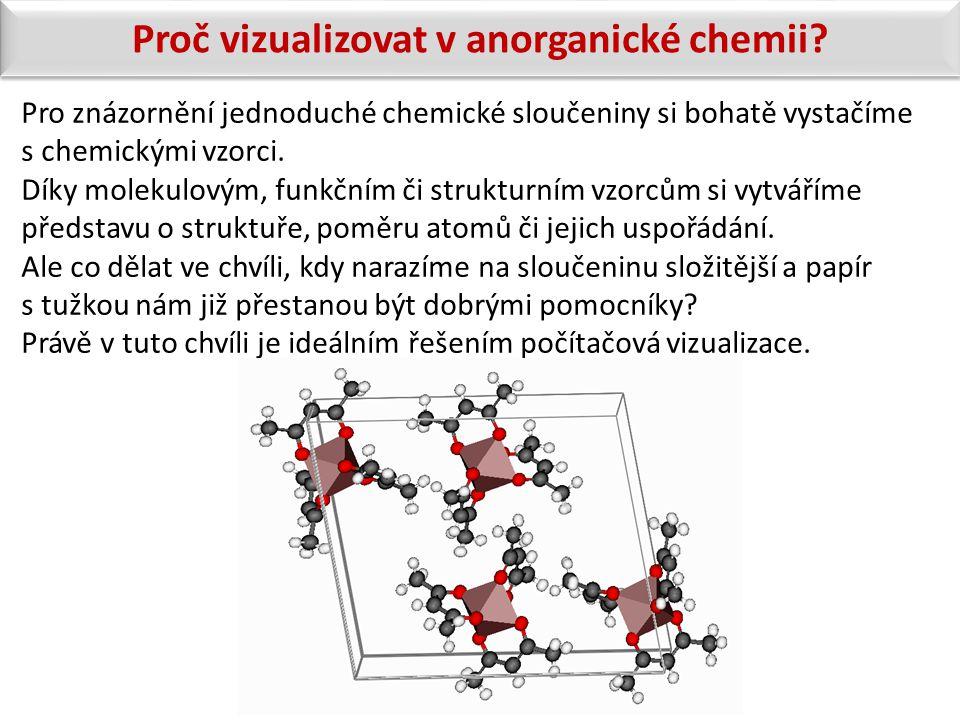 Pro znázornění jednoduché chemické sloučeniny si bohatě vystačíme s chemickými vzorci. Díky molekulovým, funkčním či strukturním vzorcům si vytváříme