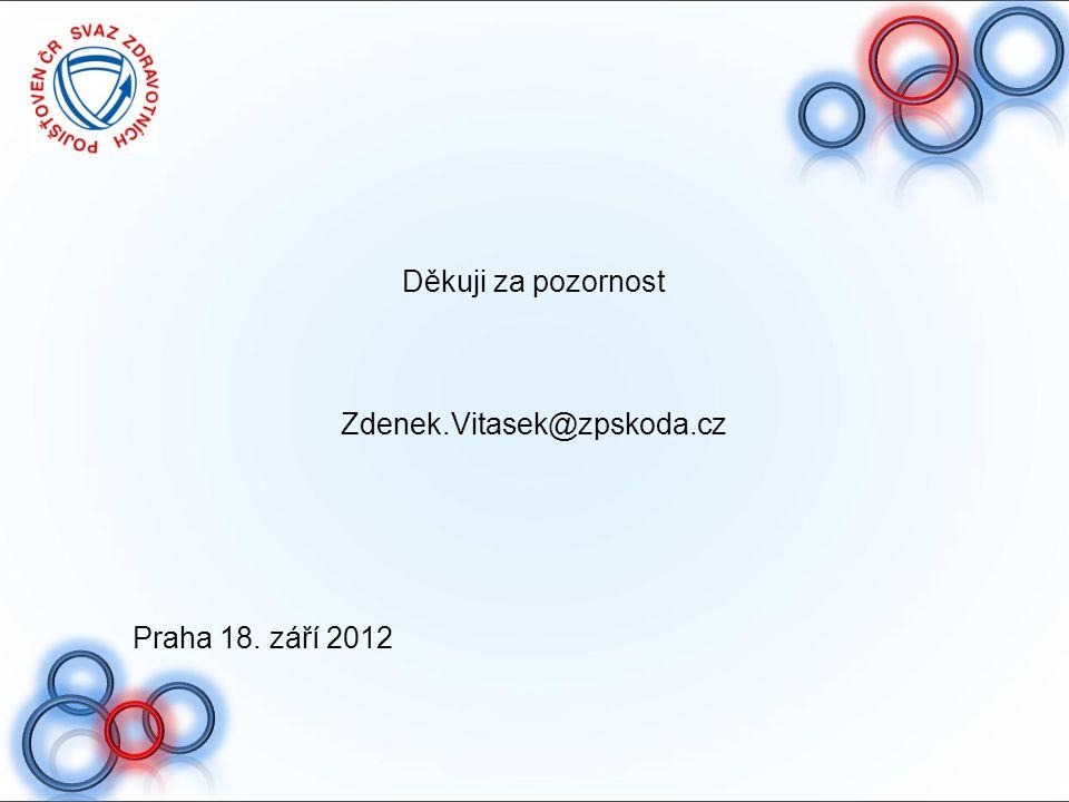 Děkuji za pozornost Zdenek.Vitasek@zpskoda.cz Praha 18. září 2012