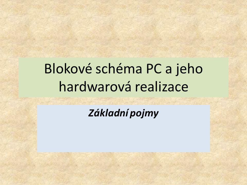 Blokové schéma PC a jeho hardwarová realizace Základní pojmy
