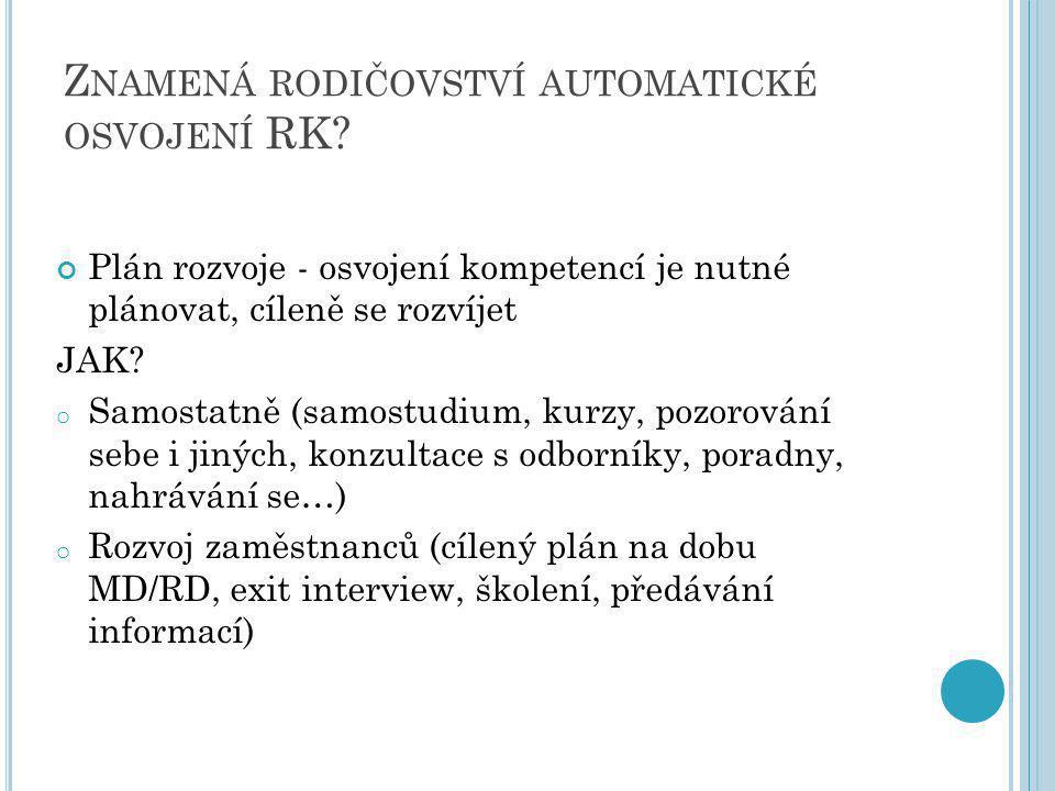 Z NAMENÁ RODIČOVSTVÍ AUTOMATICKÉ OSVOJENÍ RK.