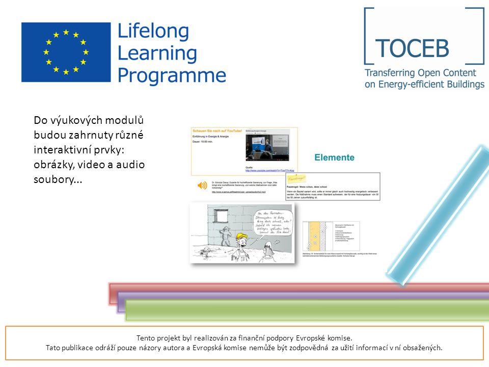 Tento projekt byl realizován za finanční podpory Evropské komise.