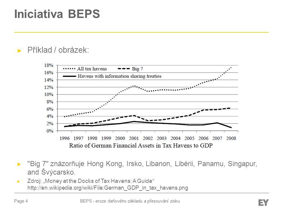 Page 5 Iniciativa BEPS BEPS - eroze daňového základu a přesouvání zisku ► První zpráva OECD byla vydána 12.