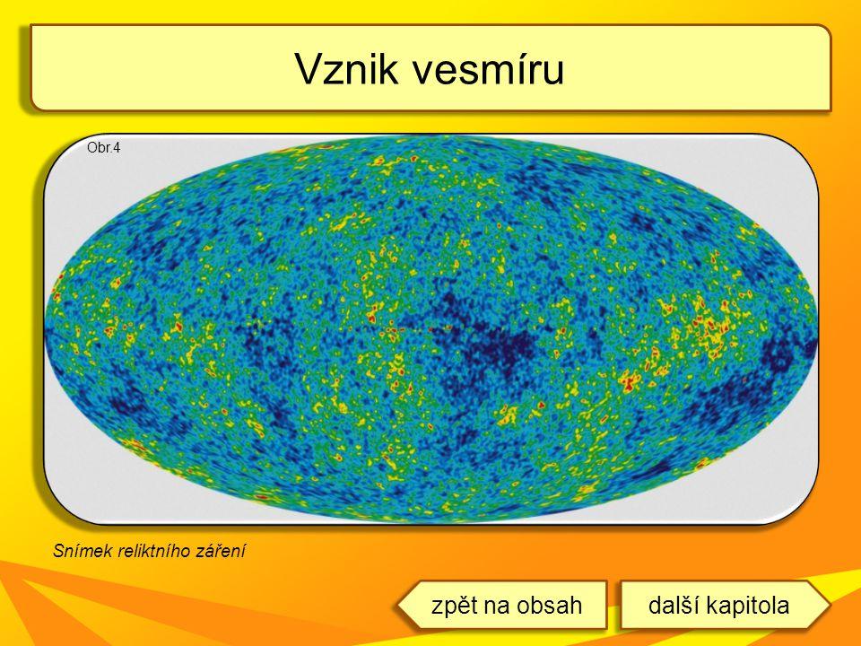 Vznik vesmíru Obr.4 Snímek reliktního záření další kapitolazpět na obsah