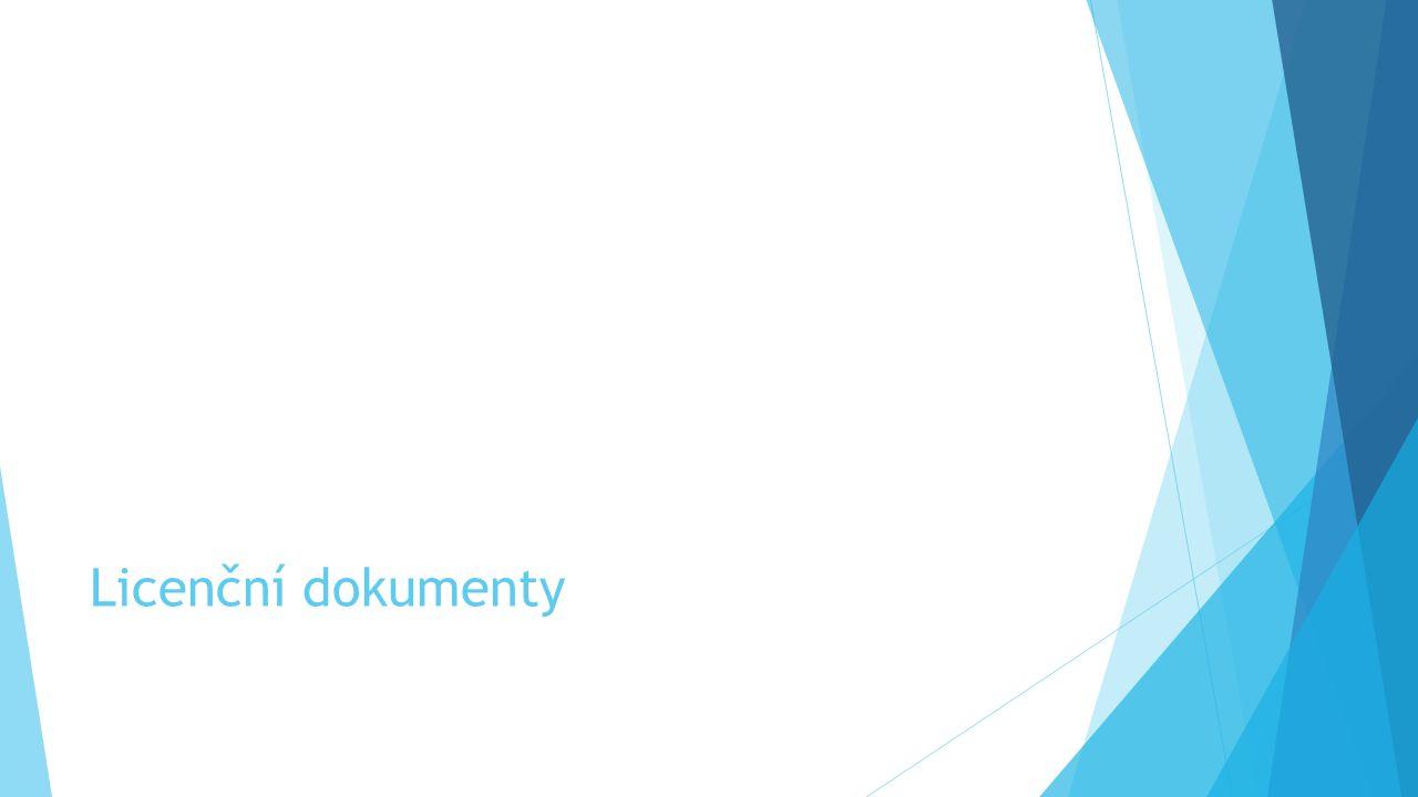 Licenční dokumenty