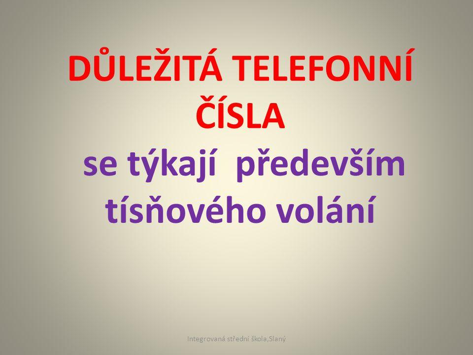 112 Jednotné evropské číslo tísňového volání Povinnost zavést jednotné evropské telefonní číslo tísňového volání byla uložena všem členským státům s tím, že do konce roku 1996 musí být ve všech státech plně funkční.