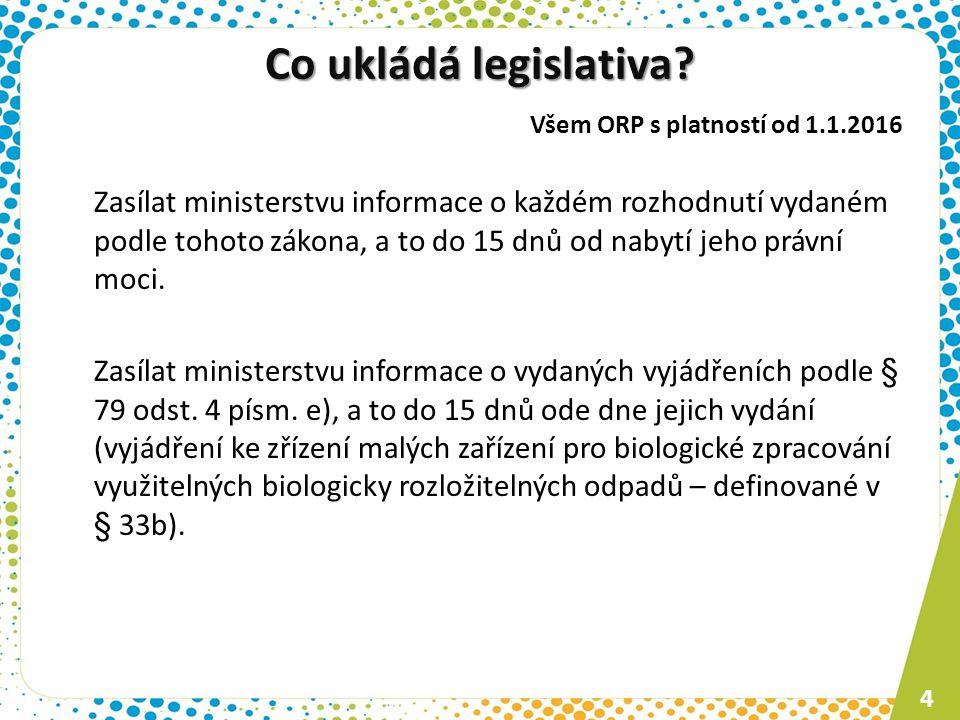 Co ukládá legislativa.