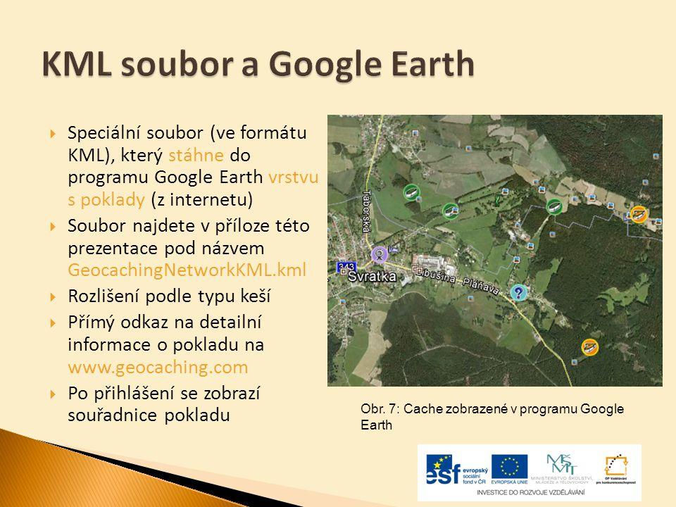  Speciální soubor (ve formátu KML), který stáhne do programu Google Earth vrstvu s poklady (z internetu)  Soubor najdete v příloze této prezentace p