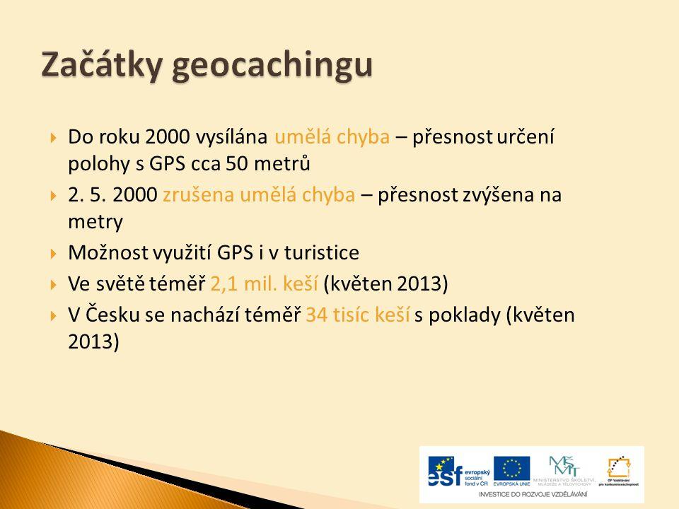  Do roku 2000 vysílána umělá chyba – přesnost určení polohy s GPS cca 50 metrů  2. 5. 2000 zrušena umělá chyba – přesnost zvýšena na metry  Možnost