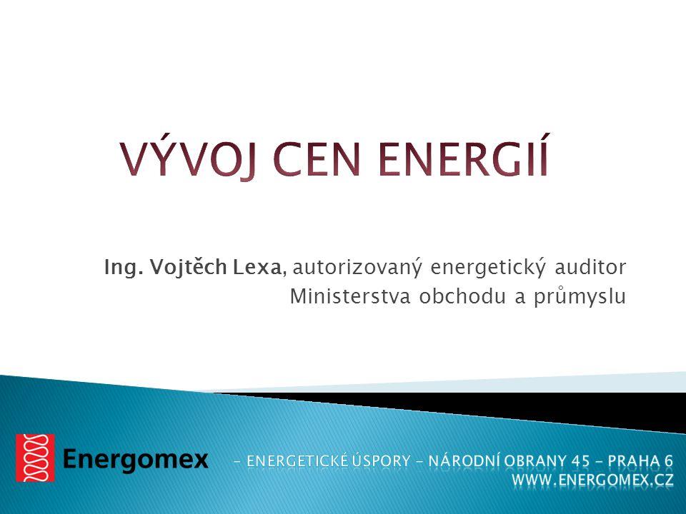 Ing. Vojtěch Lexa, autorizovaný energetický auditor Ministerstva obchodu a průmyslu