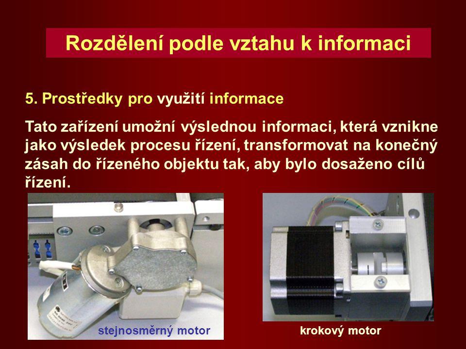 Prostředky pro využití informace pneumatický motor kyvnýpneumatický motor přímočarý