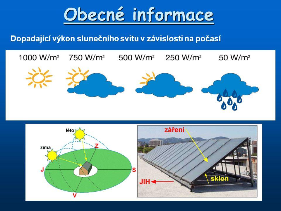 Samotížné systémy Kapalina v kolektoru se vlivem dopadajících slunečních paprsků ohřívá a roztahuje.