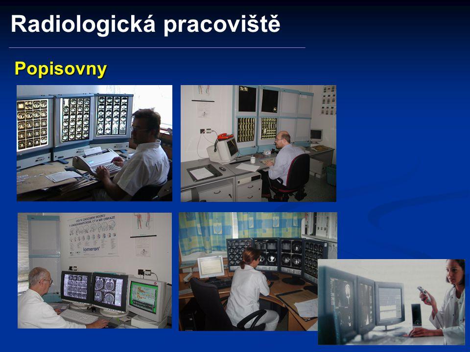 Popisovny Radiologická pracoviště
