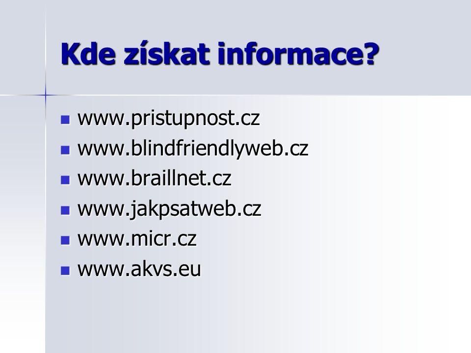 Kde získat informace.