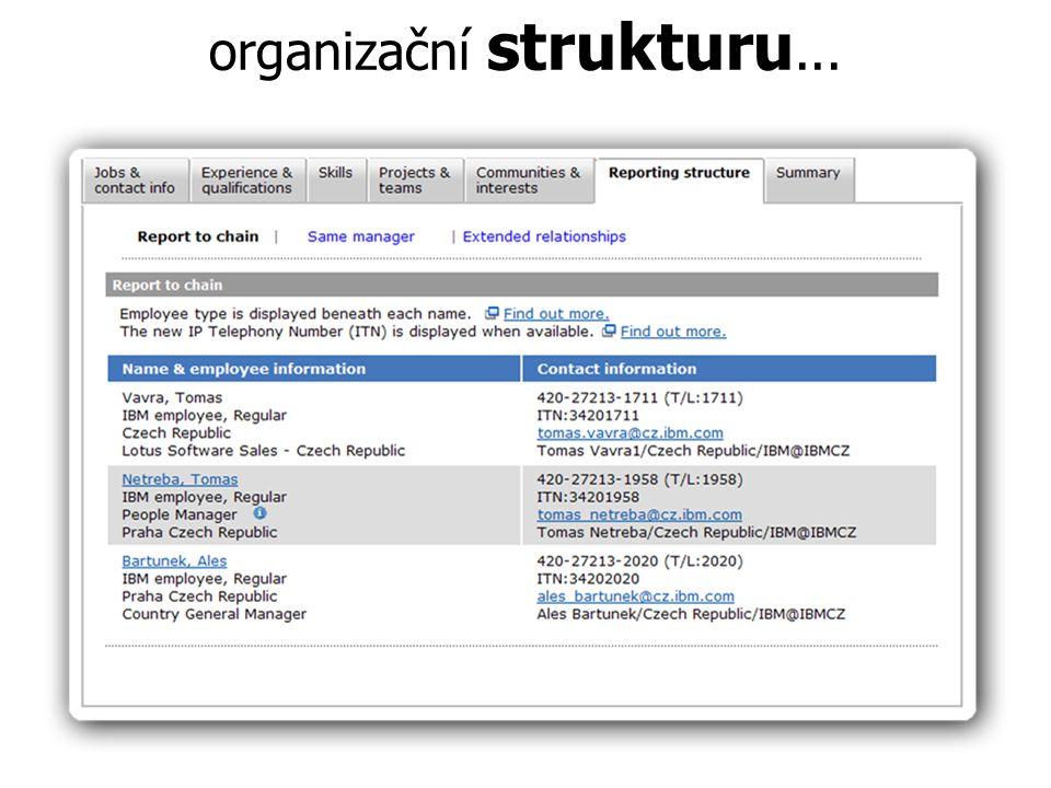 organizační strukturu...