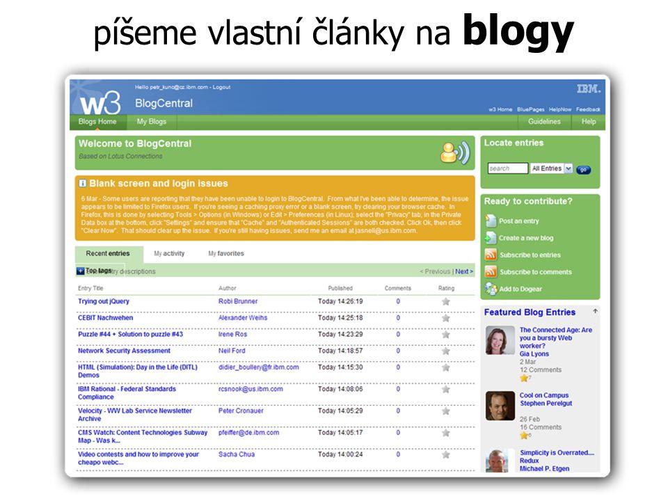 píšeme vlastní články na blogy