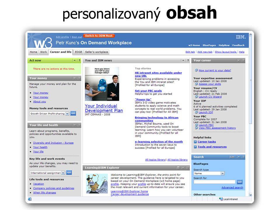 personalizovaný obsah