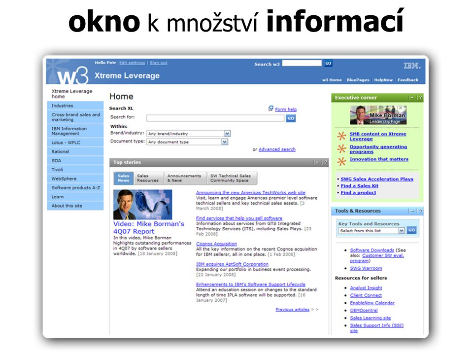 okno k množství informací