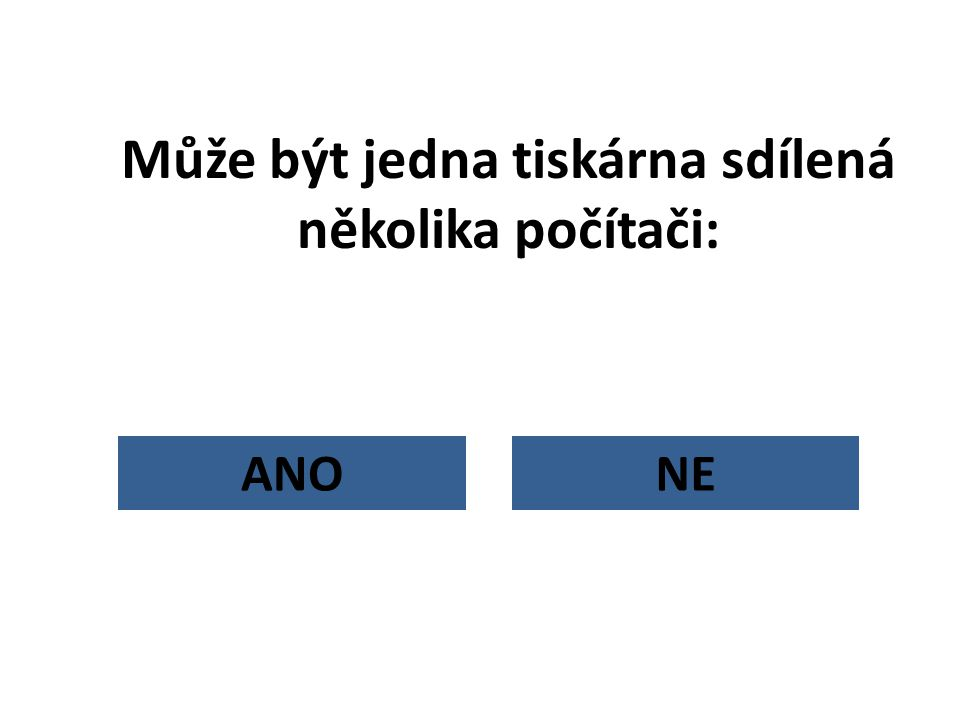 Může být jedna tiskárna sdílená několika počítači: NEANO