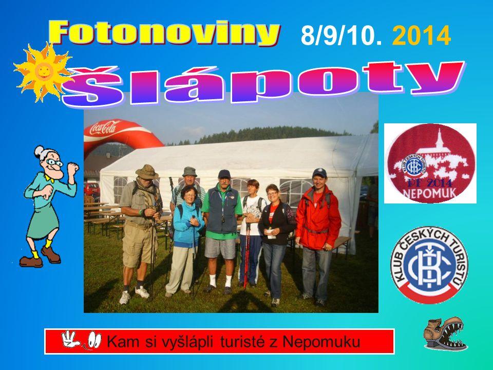 Kam si vyšlápli turisté z Nepomuku 8/9/10. 2014