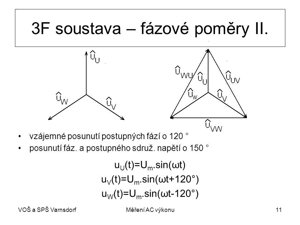 VOŠ a SPŠ VarnsdorfMěření AC výkonu11 3F soustava – fázové poměry II.