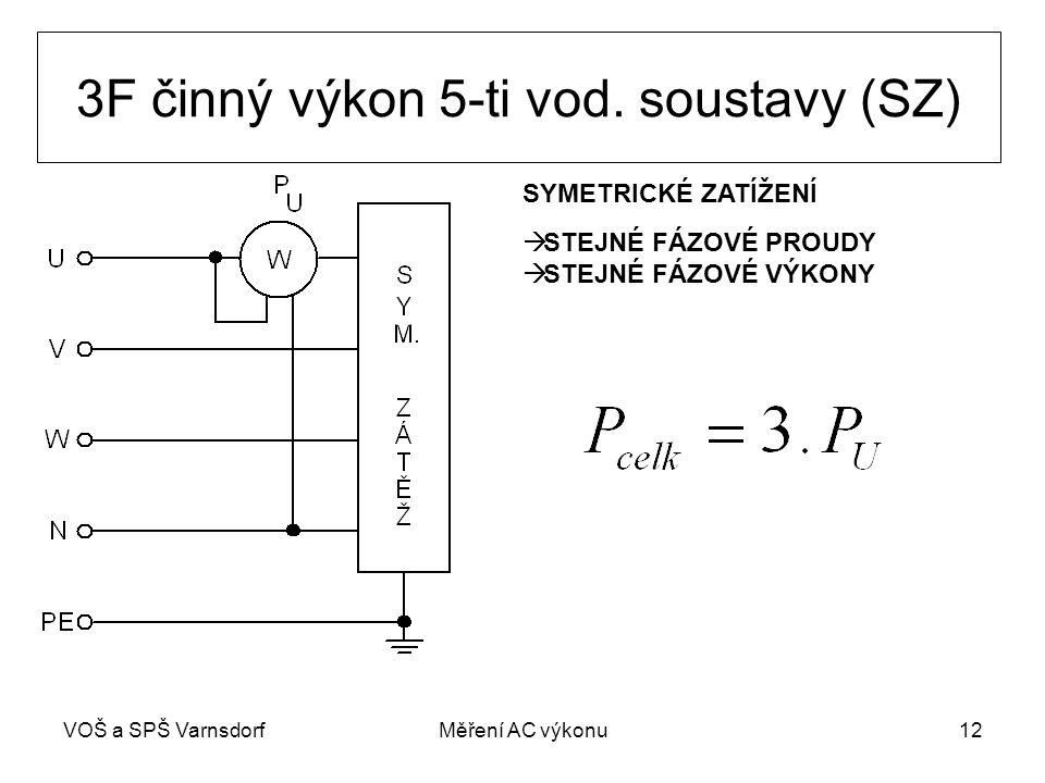 VOŠ a SPŠ VarnsdorfMěření AC výkonu12 3F činný výkon 5-ti vod.