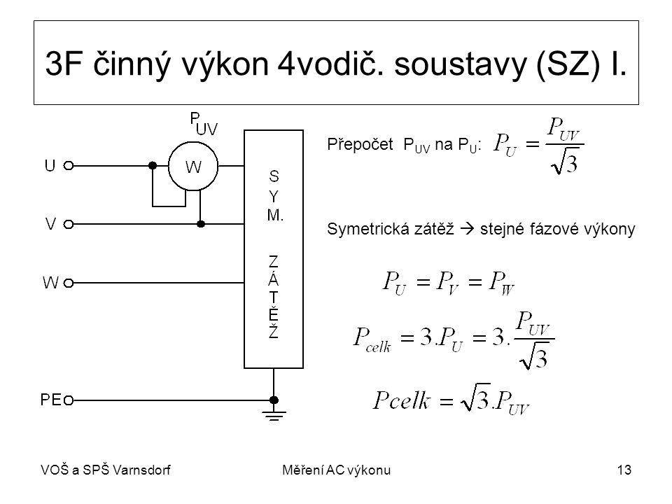 VOŠ a SPŠ VarnsdorfMěření AC výkonu13 3F činný výkon 4vodič.