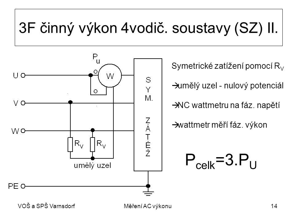 VOŠ a SPŠ VarnsdorfMěření AC výkonu14 3F činný výkon 4vodič.
