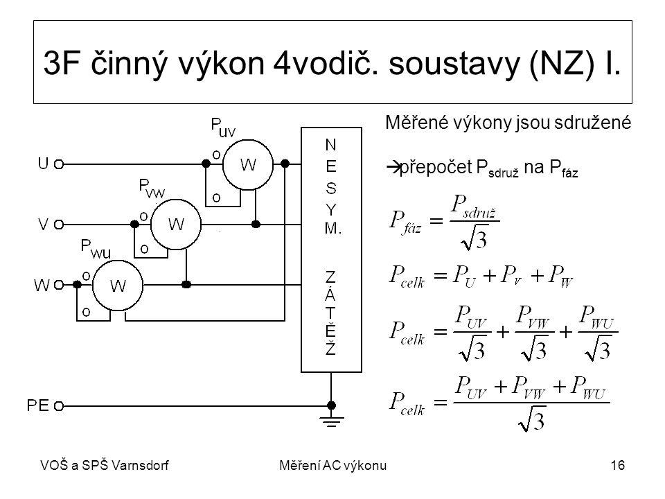 VOŠ a SPŠ VarnsdorfMěření AC výkonu16 3F činný výkon 4vodič.