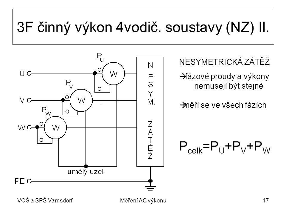 VOŠ a SPŠ VarnsdorfMěření AC výkonu17 3F činný výkon 4vodič.