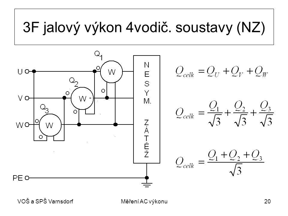 VOŠ a SPŠ VarnsdorfMěření AC výkonu20 3F jalový výkon 4vodič. soustavy (NZ)
