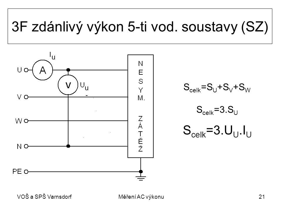 VOŠ a SPŠ VarnsdorfMěření AC výkonu21 3F zdánlivý výkon 5-ti vod.
