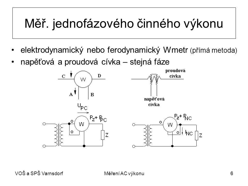 VOŠ a SPŠ VarnsdorfMěření AC výkonu6 Měř.