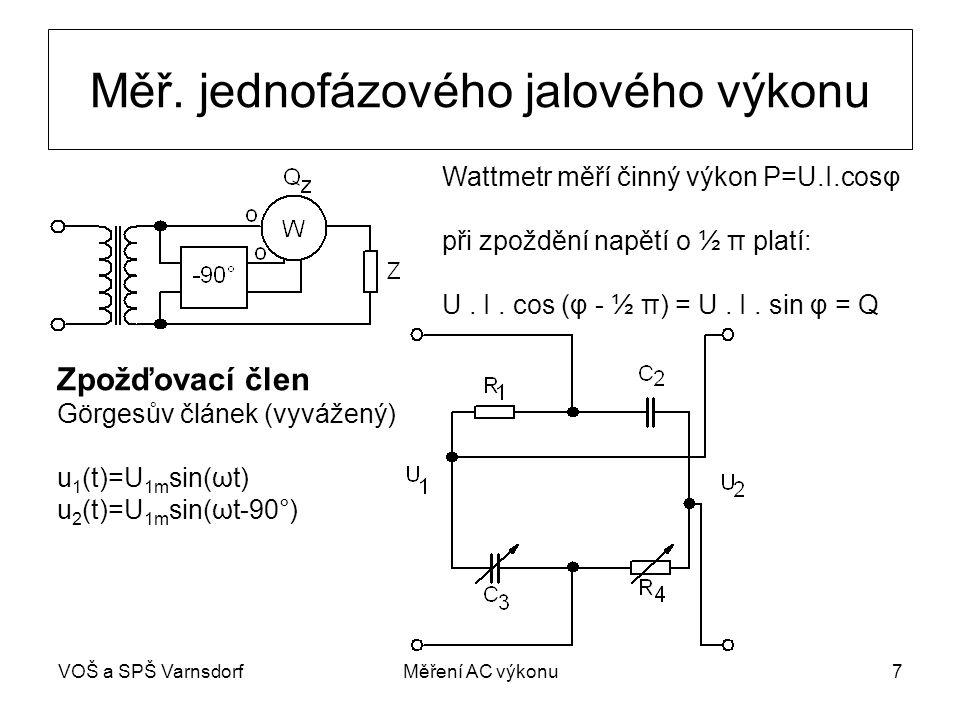 VOŠ a SPŠ VarnsdorfMěření AC výkonu7 Měř.