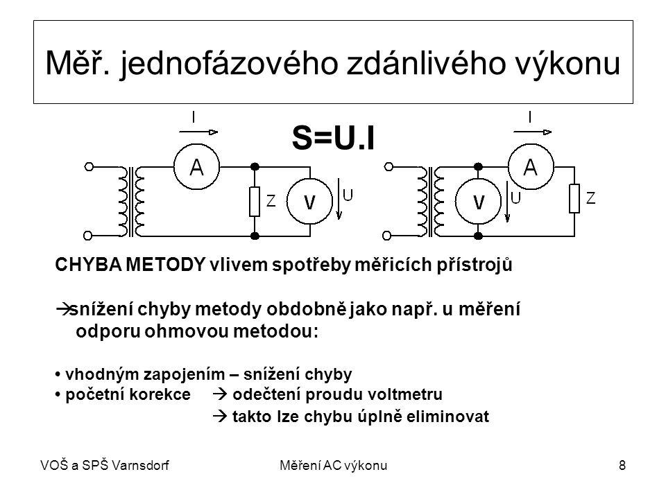 VOŠ a SPŠ VarnsdorfMěření AC výkonu8 Měř.