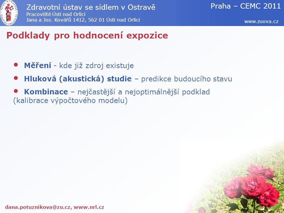 Ukázky možného zpracování dana.potuznikova@zu.cz, www.nrl.cz www.zuova.cz Zdravotní ústav se sídlem v Ostravě Pracoviště Ústí nad Orlicí Jana a Jos.
