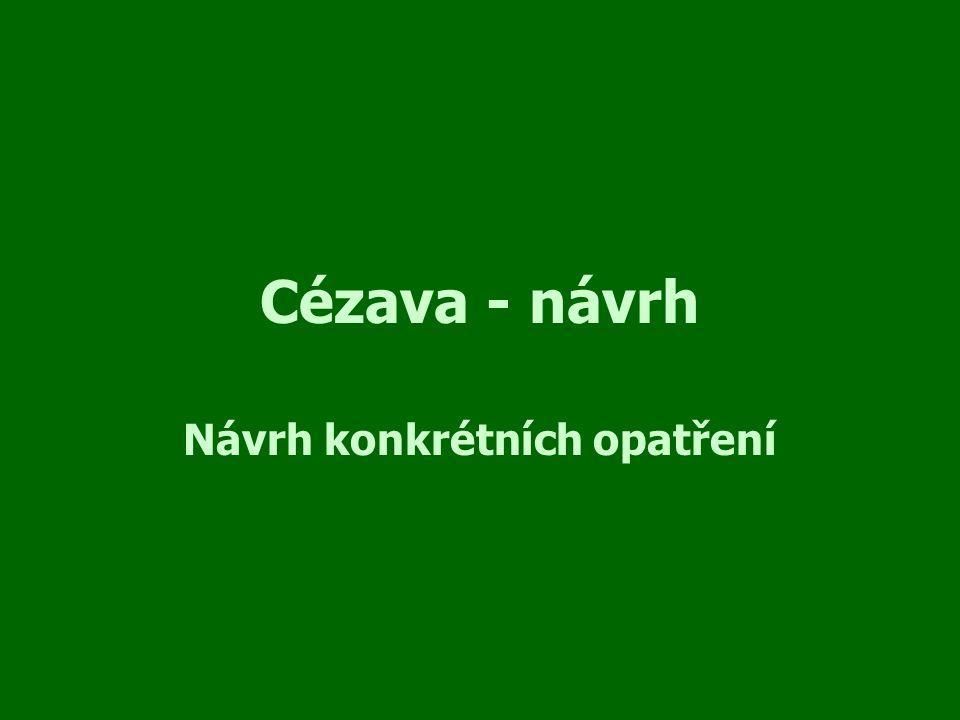 Cézava - návrh Návrh konkrétních opatření