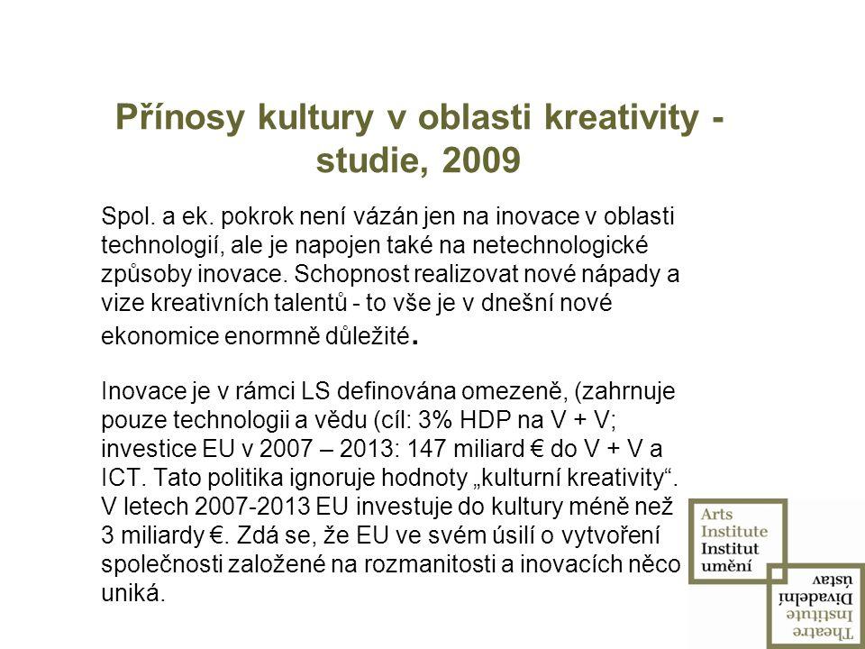 """Fórum pro kreativní Evropu - březen 2009  rok 2009 – Evropský rok kreativity a inovací motto: """"Vymýšlíme, tvoříme, inovujeme ."""